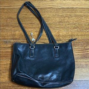 Fossil Pebbled Leather Handbag